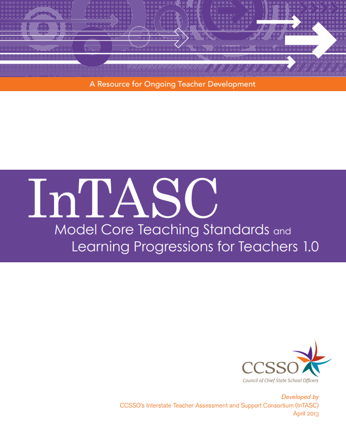 InTASC Model Core Teaching Standards and Learning Progressions for Teachers 1.0 Cover