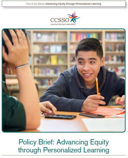 image of cover for advancing equity in personalized learning