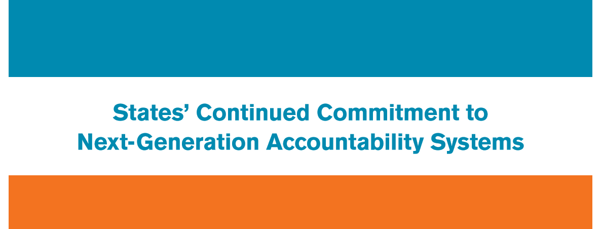 Image of title page: States' Continued Commitment to Next-Generation Accountability Systems
