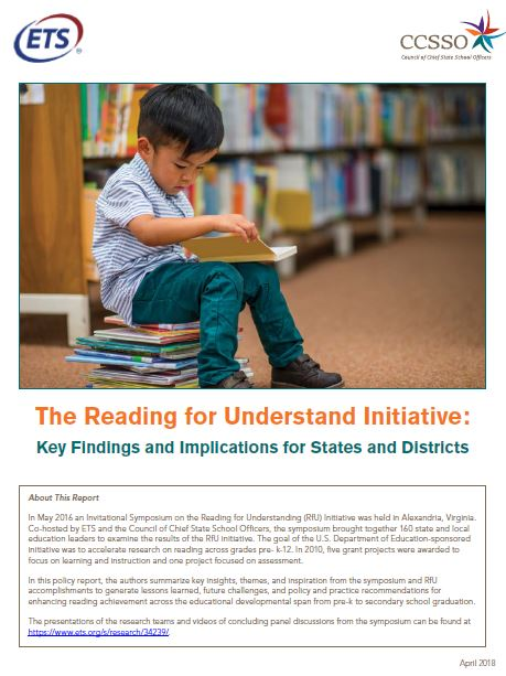 ETS Reading for Understanding Initiative