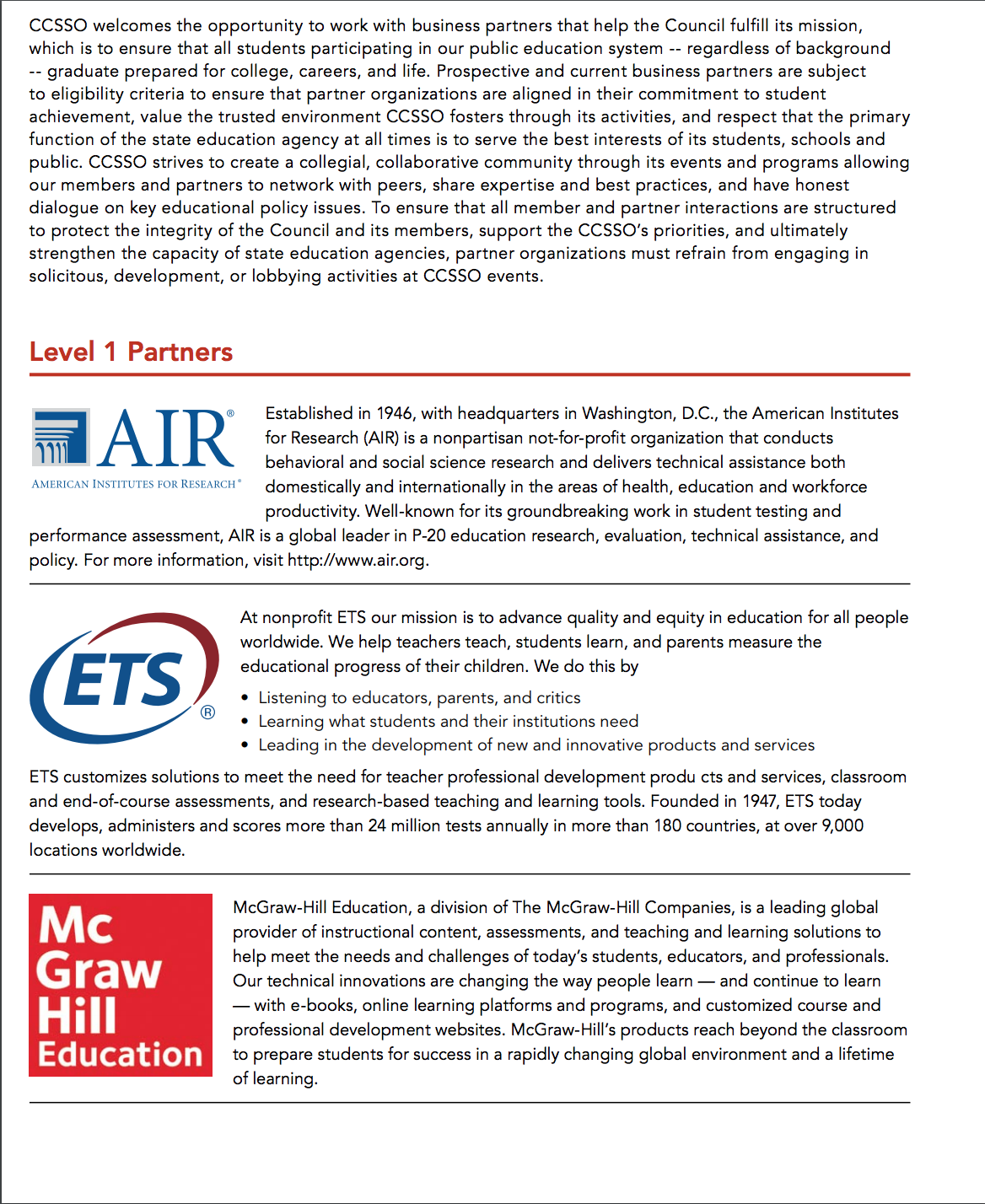 CCSSO Partners page 1