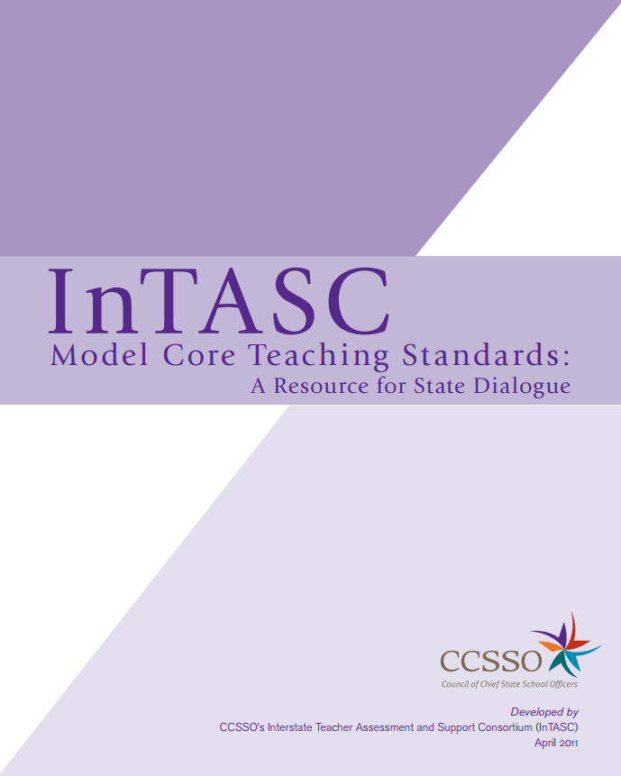 InTASC Model Core Teaching Standards 2011 Cover