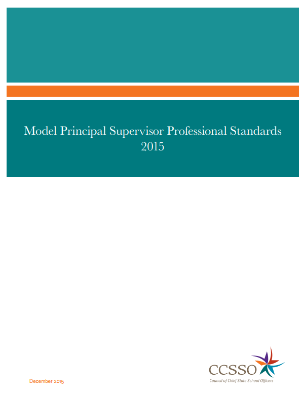 Model Principal Supervisor Professional Standards 2015 Report Image