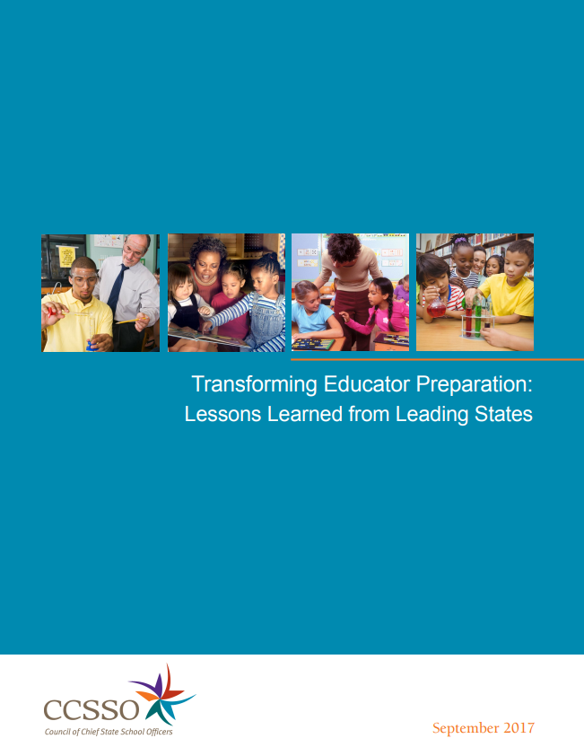 Transforming Educator Preparation Cover