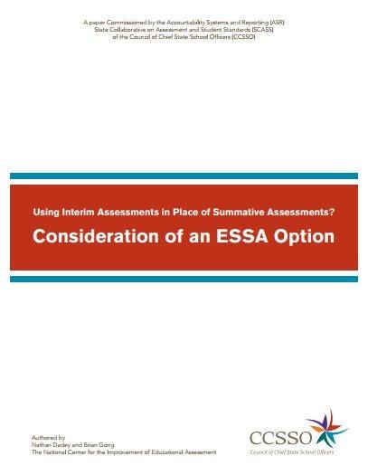 ASR ESSA Interim Considerations