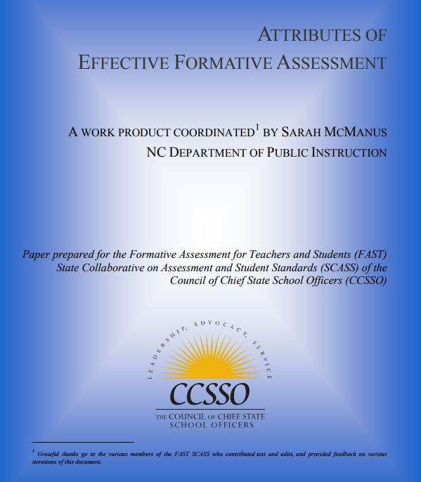 Attributes of Effective Formative Assessment