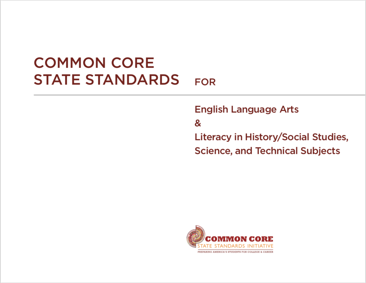 Common Core State Standards for English Language Arts & Literacy in History/Social Studies, Science, and Technical Subjects - Title card
