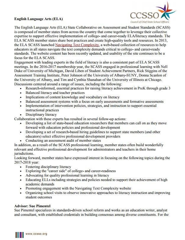 ELA Description