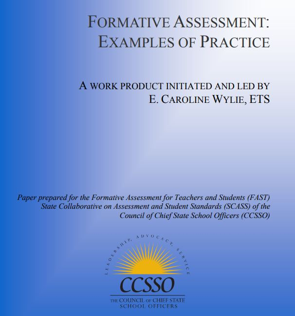 Different Examples Of Formative Essment | Formative Assessment Examples Of Practice Ccsso