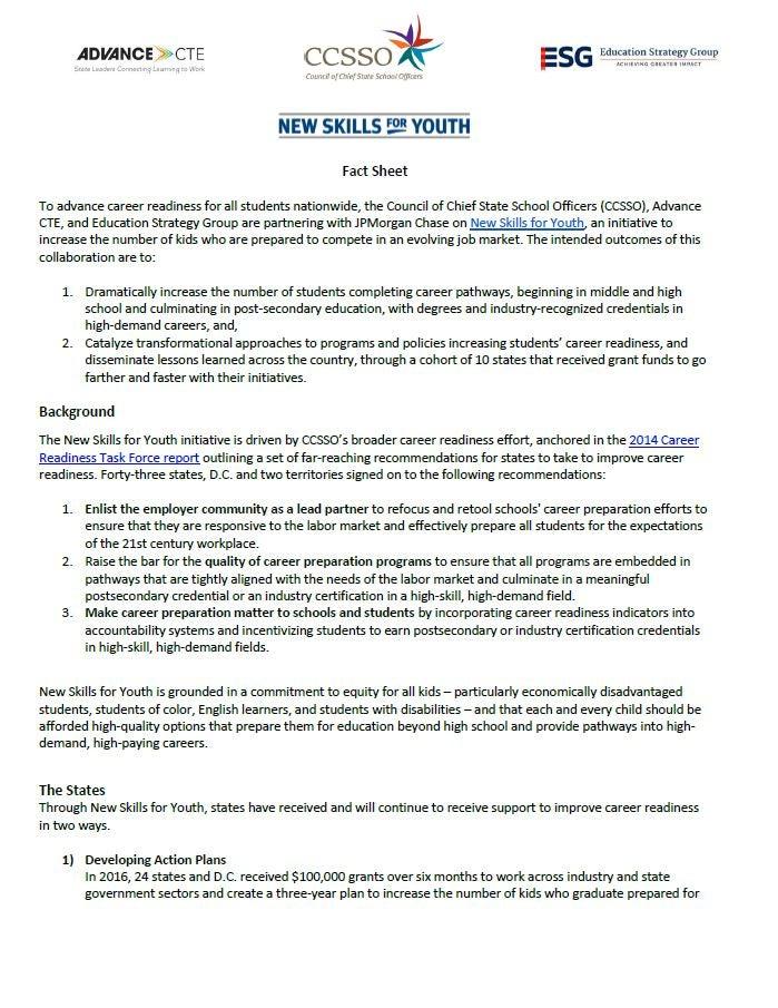 NSFY Fact Sheet