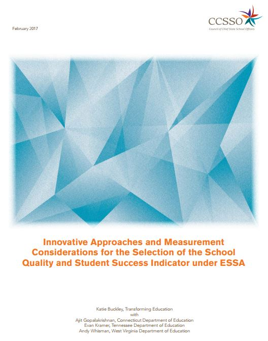 Innovative Approaches and Measurement Considerations cover page