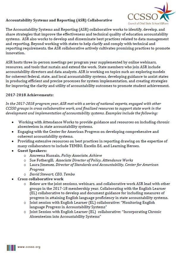 ASR 2018-2019 Collaborative Membership Information