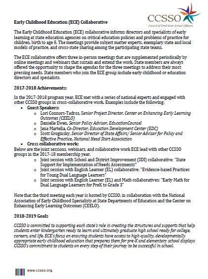 ECE 2018-2019 Membership Information