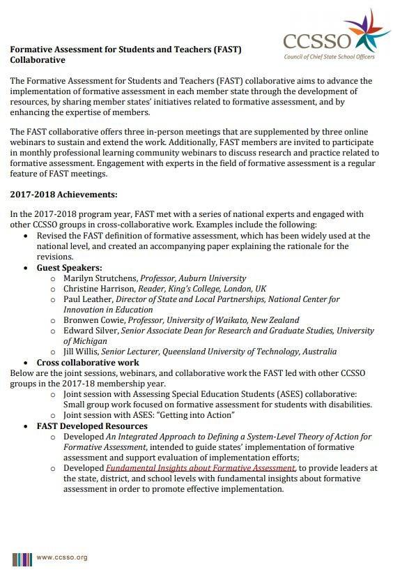 2018-2019 FAST Membership Information