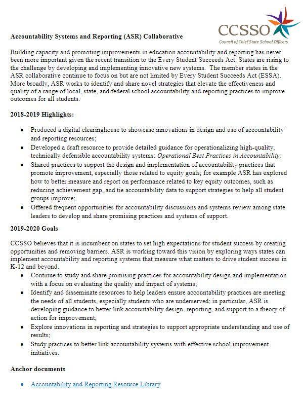 ASR Collaborative Information