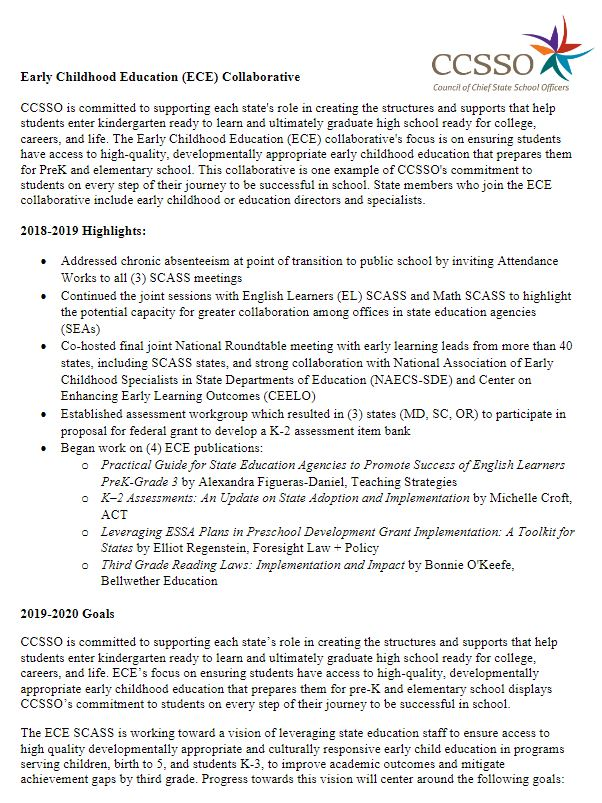 ECE Membership Information