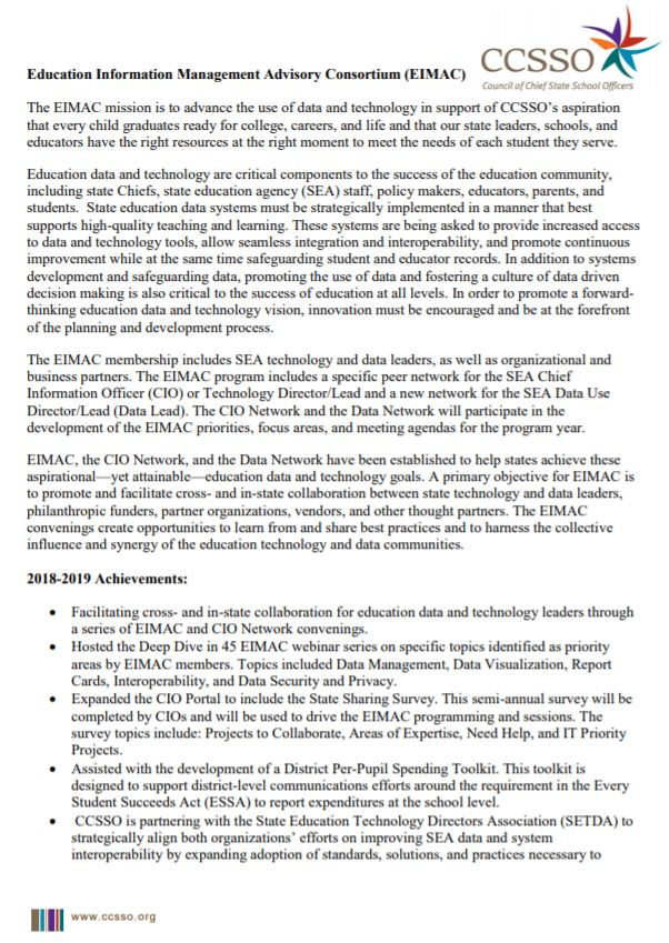 EIMAC Membership Information