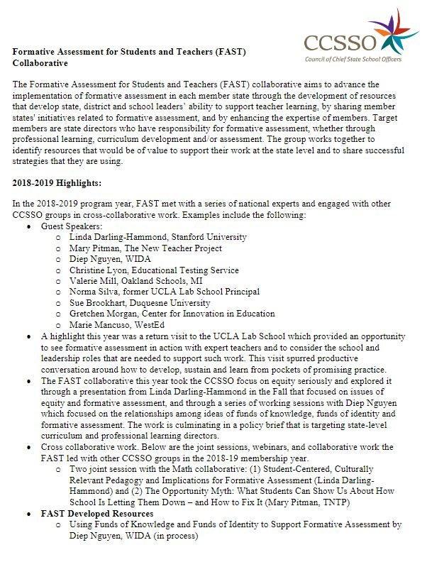 FAST Membership Information
