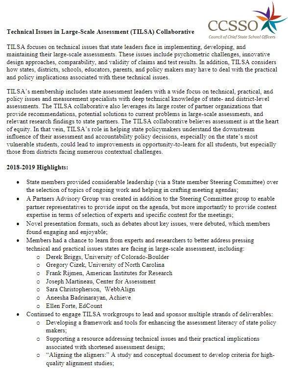 TILSA Membership Information
