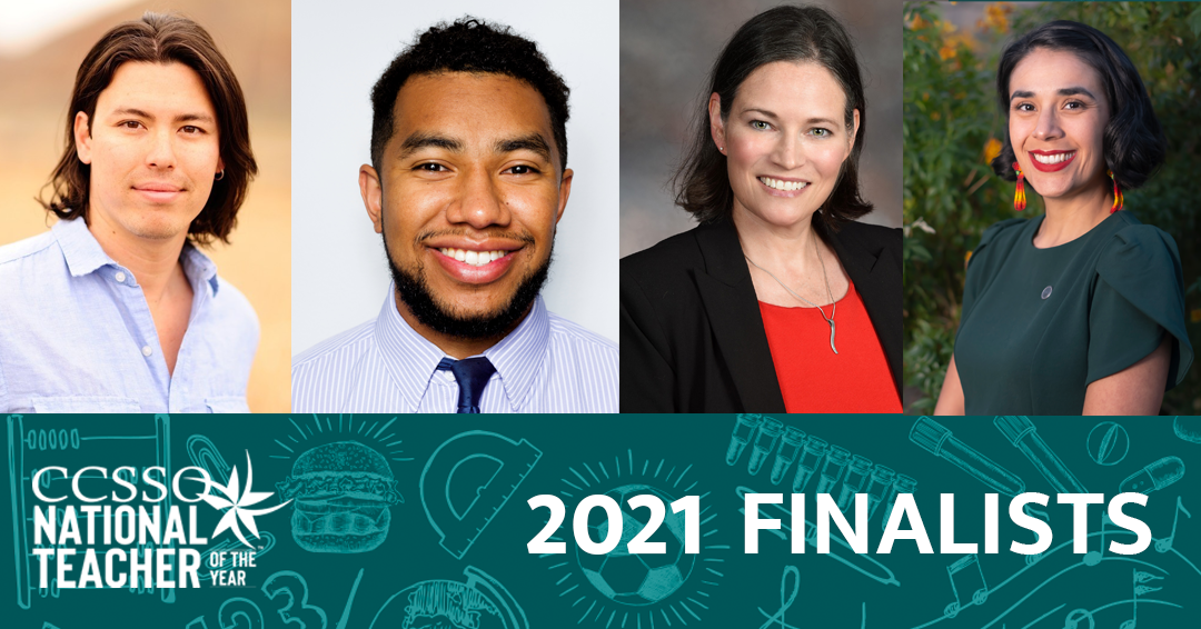 Graphic showing finalists for 2021 National Teacher of the Year
